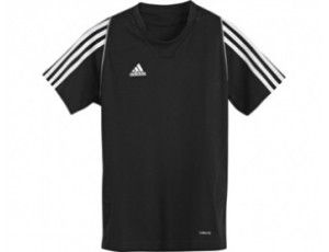 Adidas teamkleding - Hockey outlet - Hockey t-shirts - Hockeykleding - Overig - T12 teamkleding - kopen - Adidas T12 Short Sleeve Team Tee Youth Black (Aktie)