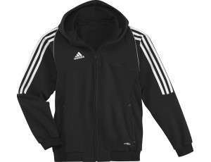 Adidas teamkleding - Hockey outlet - Hockey truien - Hockeykleding - T12 teamkleding - kopen - Adidas T12 Hoody Youth Black (Aktie)