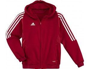 Adidas teamkleding - Hockey outlet - Hockey truien - Hockeykleding - Overig - T12 teamkleding - kopen - Adidas T12 Hoody youth Red (Aktie)