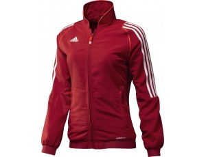 Adidas teamkleding - Hockey outlet - Hockey trainingsjassen - Hockeykleding - Overig - T12 teamkleding - kopen - Adidas T12 Jacket Women Red (Aktie)