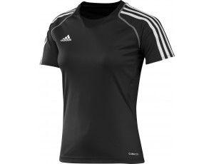 Adidas teamkleding - Hockey outlet - Hockey t-shirts - Hockeykleding - T12 teamkleding - kopen - Adidas T12 Short Sleeve Clima Tee Women Black (Aktie)