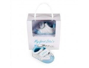 """Hockey accessoires - Cadeaus en gadgets - kopen - Dita Babyshoes """"My First Dita's"""" Lightblue"""