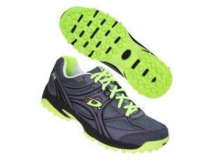 Dita hockeyschoenen - Hockey outlet - Hockeyschoenen - Schoenen -  kopen - Dita Comfort Senior Heren Grijs/Lime/Zwart (Aktie)