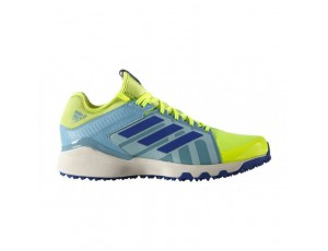 Adidas Brandshop - Adidas hockeyschoenen - Hockey outlet - Hockeyschoenen - Schoenen - Senior hockeyschoenen -  kopen - Adidas Hockey Lux Yellow-Light Blue | 25% DISCOUNT DEALS