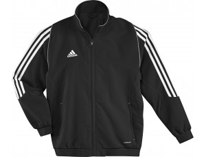Adidas teamkleding - Hockey outlet - Hockey trainingsjassen - Hockeykleding - Overig - T12 teamkleding - kopen - Adidas T12 Jacket Youth Black (Aktie)