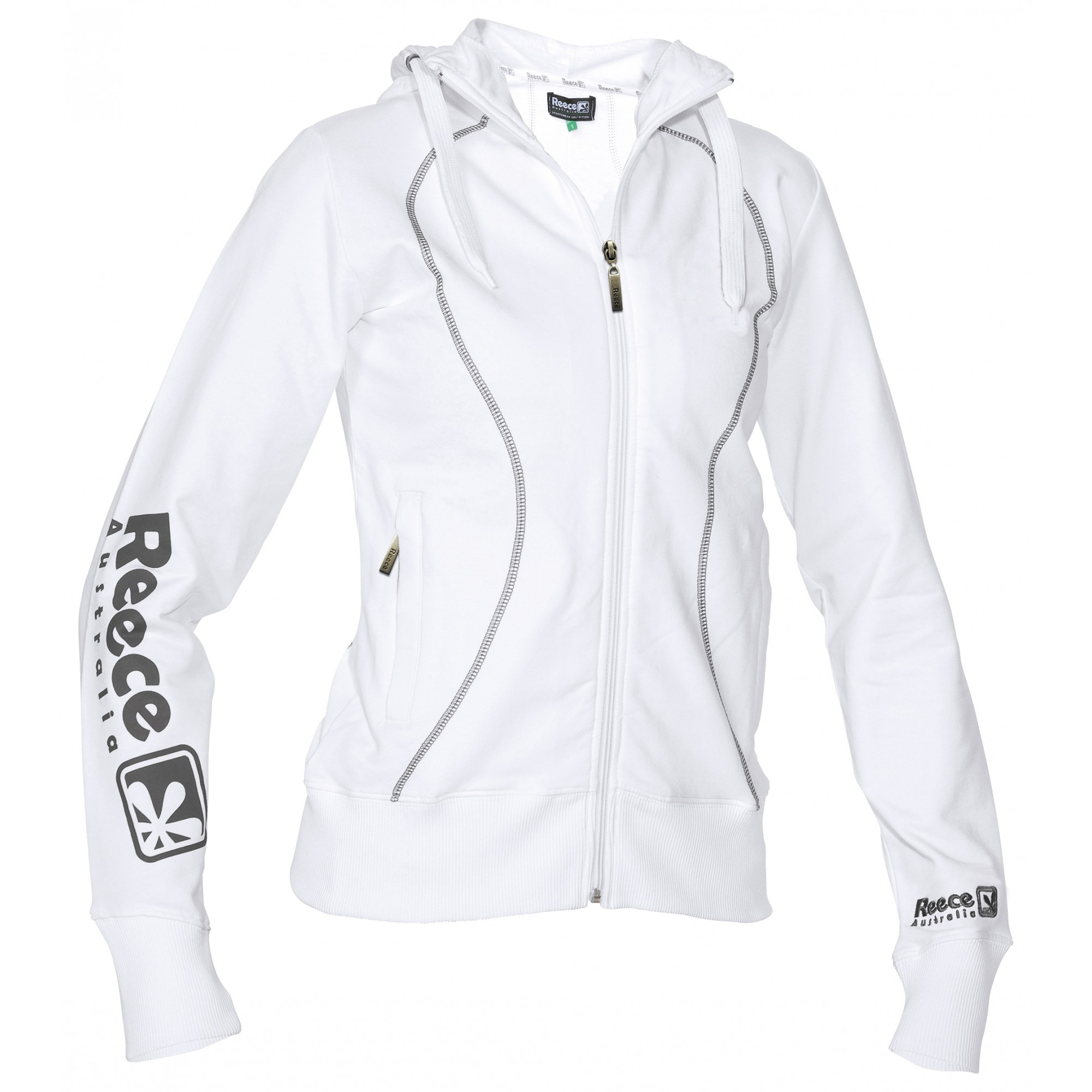 Reece Hooded Sweat Full Zip ladies Wit SR - Online bestellen