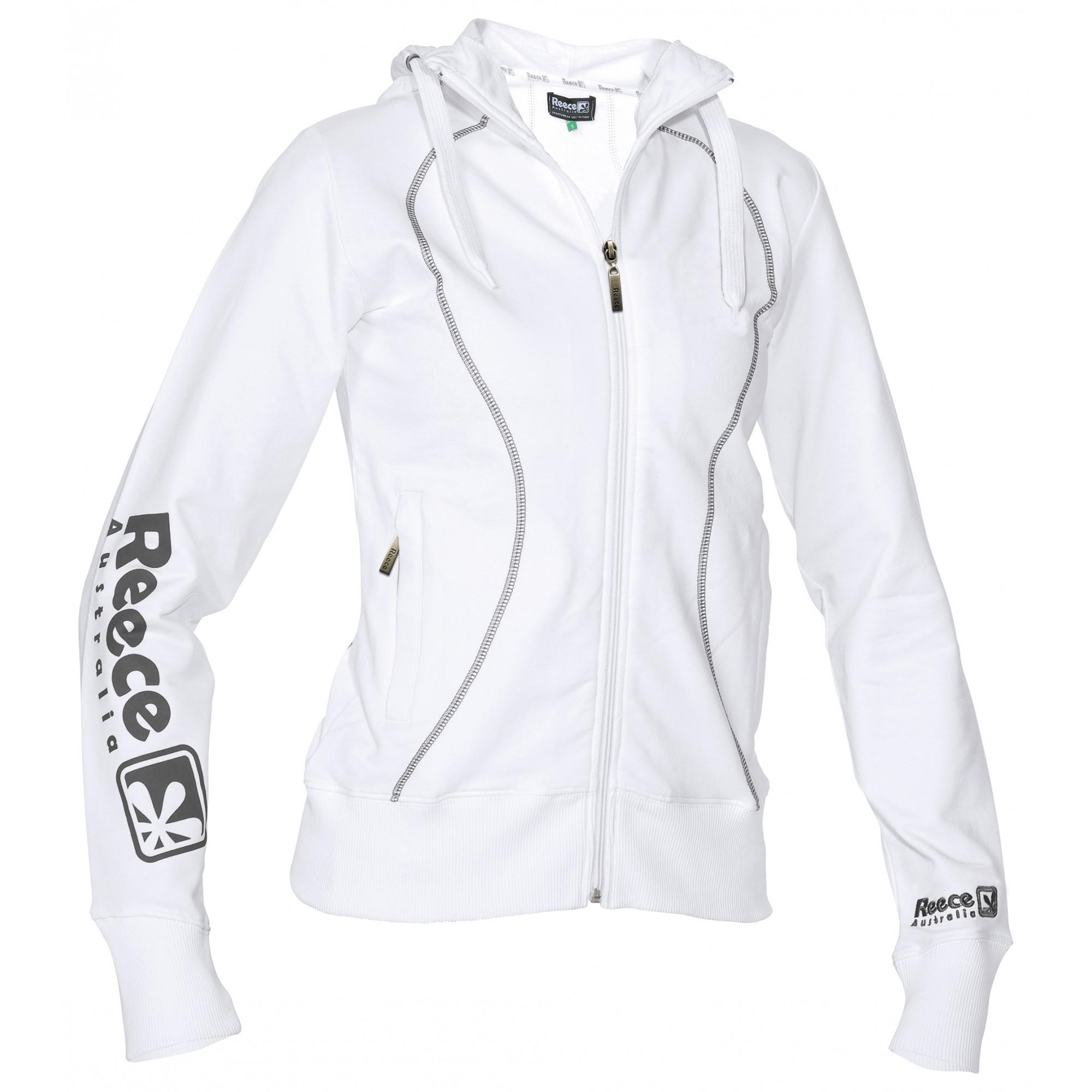 Reece Hooded Sweat Full Zip ladies Wit SR - Online bestellen
