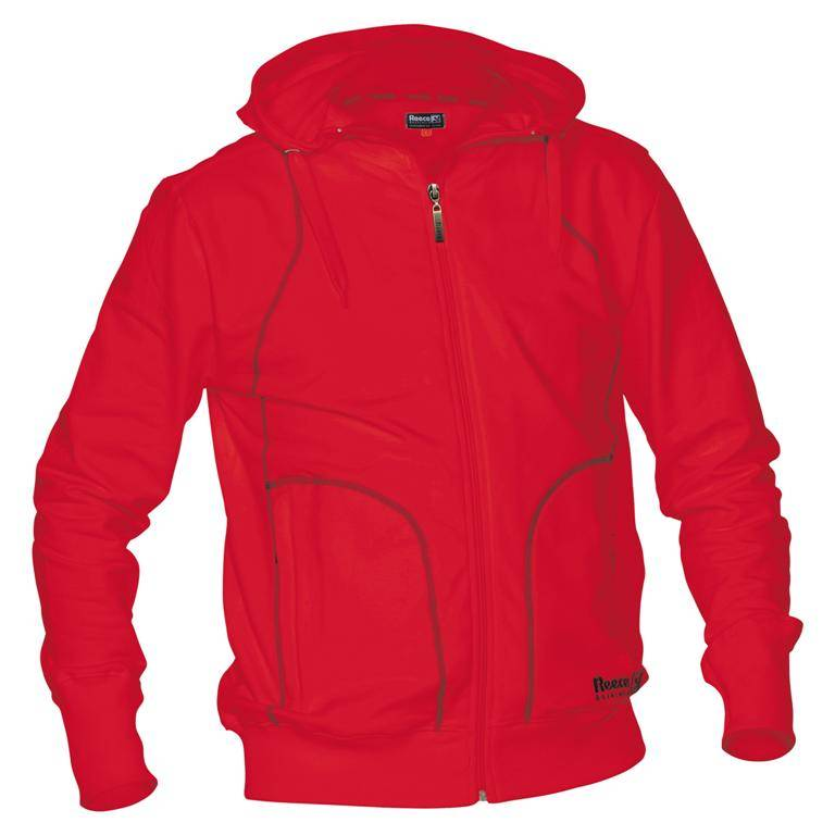 Reece Hooded Sweat Full Zip Unisex Rood SR - Bestellen