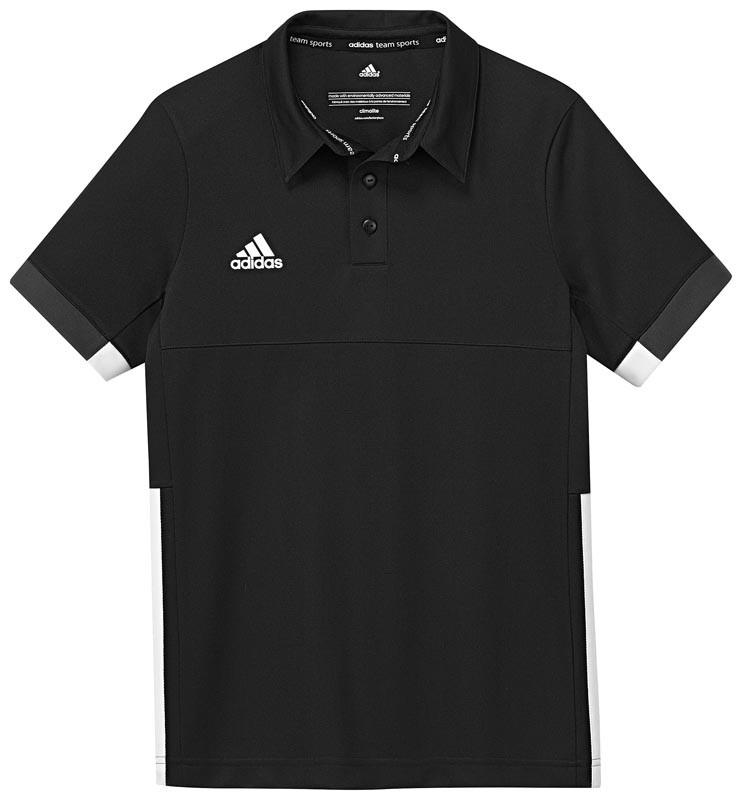 Adidas T16 Team Polo Jeugd Jongens Black (polyester/katoen) - Online bestellen