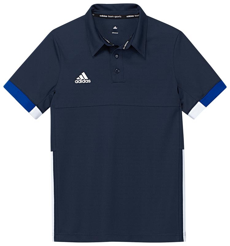 Adidas T16 Team Polo Jeugd Jongens Navy (polyester/katoen) - Bestellen