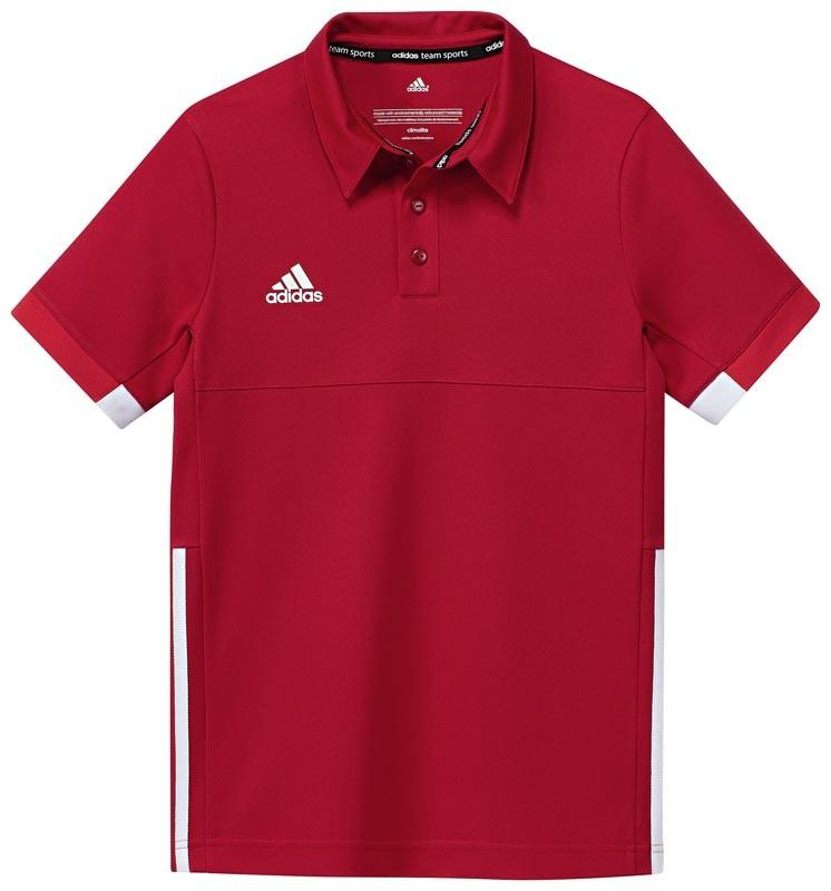 Adidas T16 Team Polo Jeugd Jongens Red (polyester/katoen) - Kopen