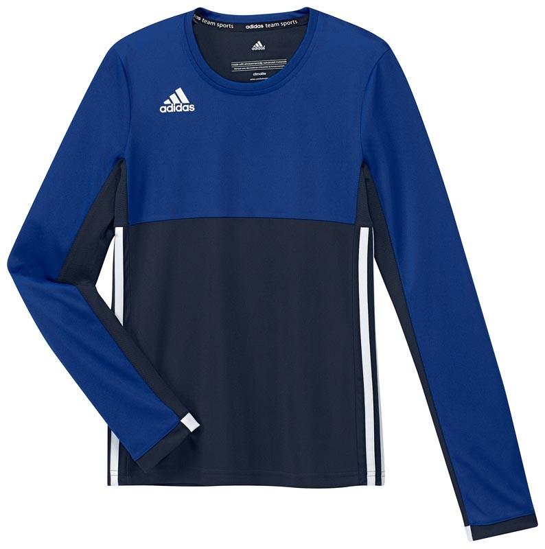 Adidas T16 Climacool Long Sleeve Tee Jeugd Meisjes Navy - Kopen