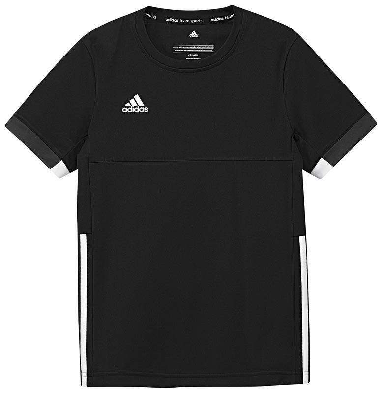 Adidas T16 Team Short Sleeve Team Tee Jeugd Jongens Black (polyester/katoen) - Koop online