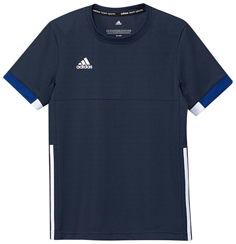 Adidas T16 Team Short Sleeve Team Tee Jeugd Jongens Navy (polyester/katoen) - Koop online