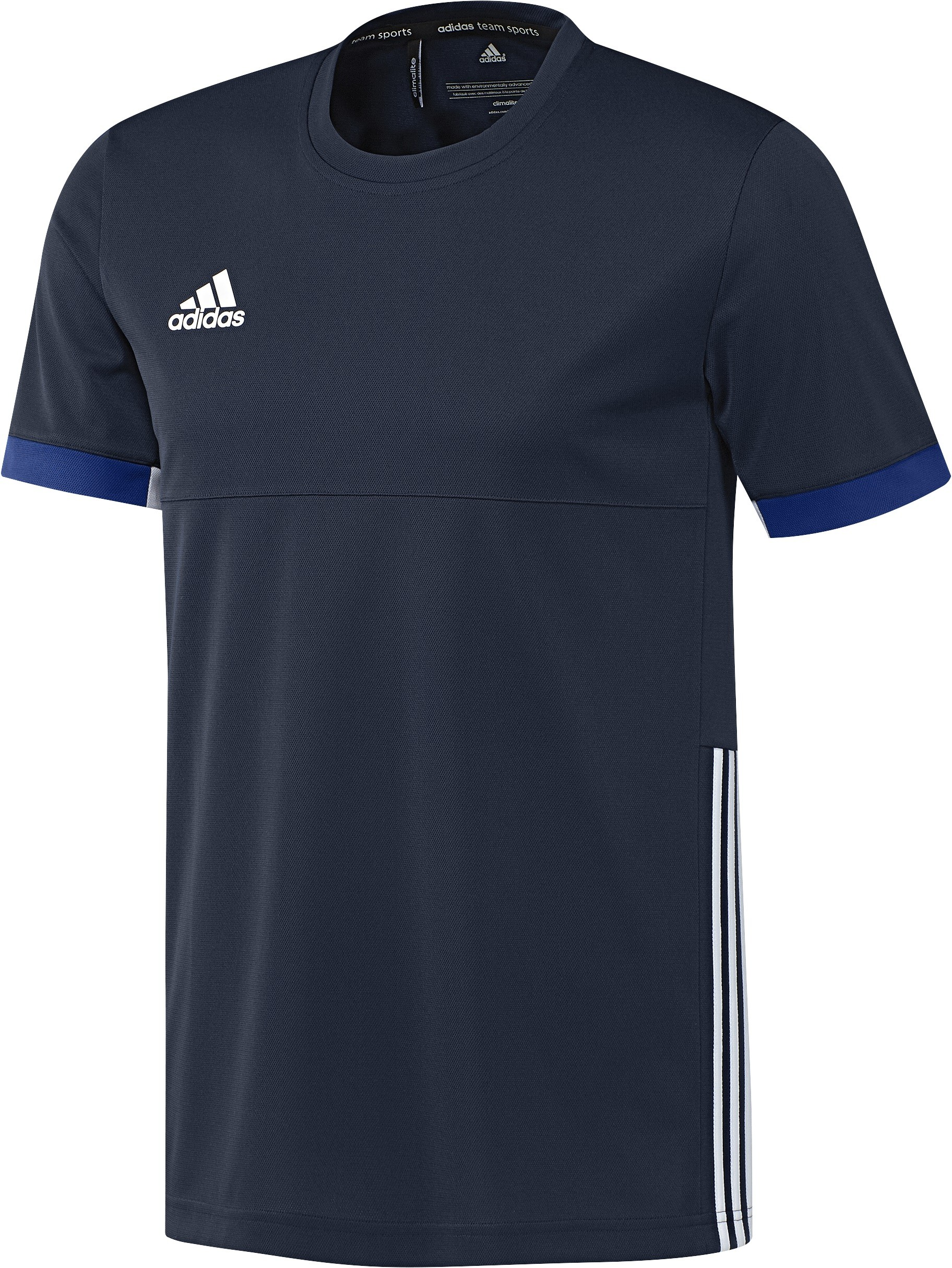 Adidas T16 Team Short Sleeve Tee Men Navy (polyester/katoen)