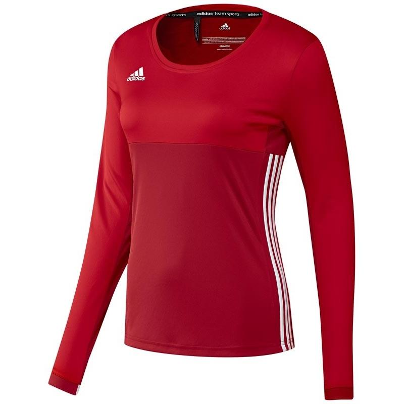 Adidas T16 Climacool Long Sleeve Tee Women Red DISCOUNT DEALS