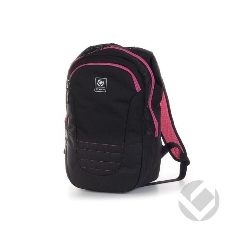 454cfaf55b5 In de brabo backpack senior traditional black/pink is er genoeg ruimte  beschikbaar voor accessoires