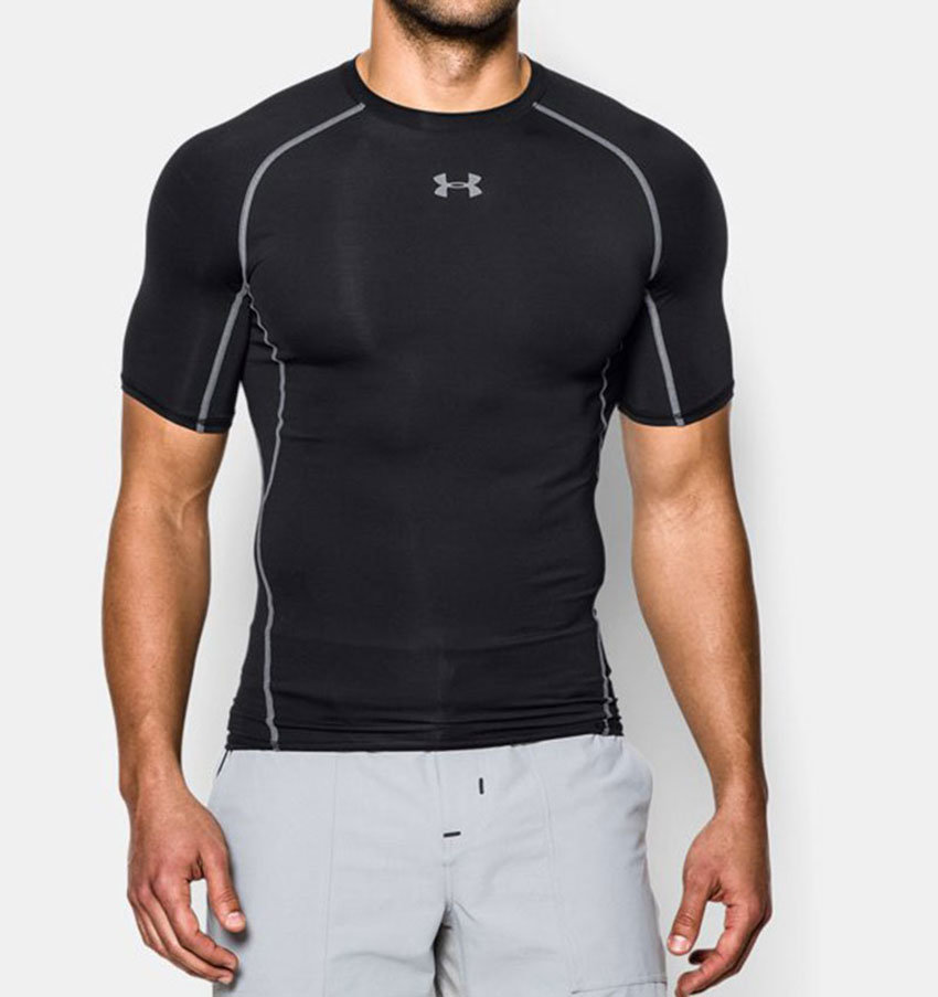 Under Armour HeatGear Armour Compression SS - Black online kopen