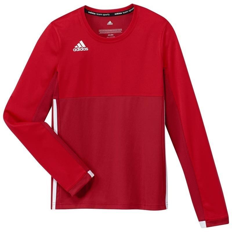Adidas T16 Climacool Long Sleeve Tee Jeugd Meisjes Red DISCOUNT DEALS