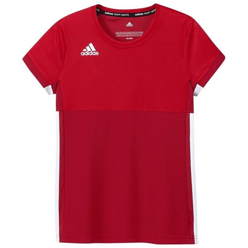 Adidas T16 Climacool Short Sleeve Tee Jeugd Meisjes Red DISCOUNT DEALS