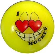 Hockeybal Emoticon / Smiley | Yellow I love Hockey online kopen