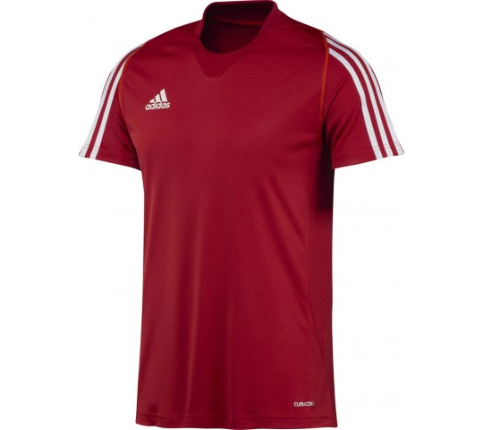 Adidas T12 Team SS Tee Men Red   Discount Deal