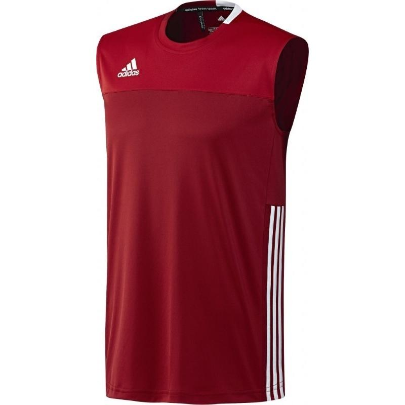 Adidas T16 Climacool Sleeveless Tee Men Red DISCOUNT DEALS