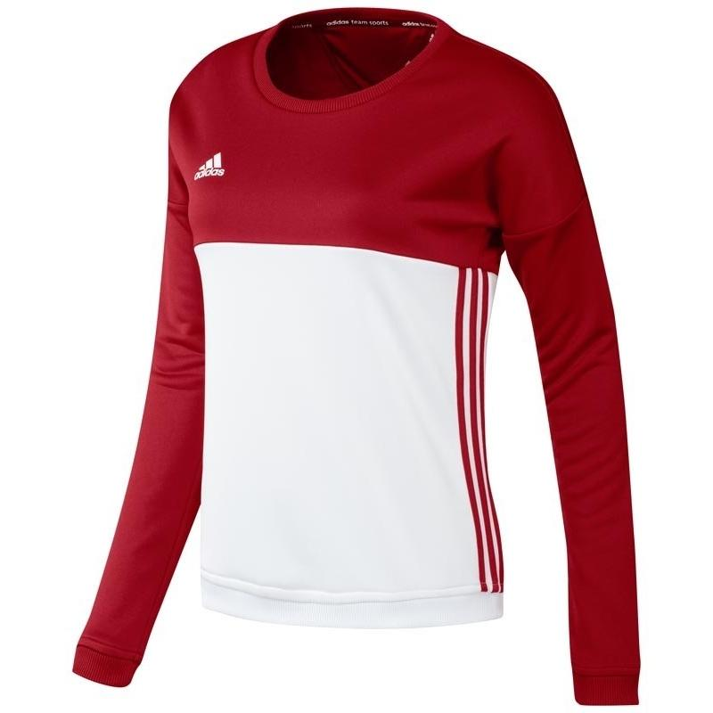 Adidas T16 Crew Sweat Women Red DISCOUNT DEALS
