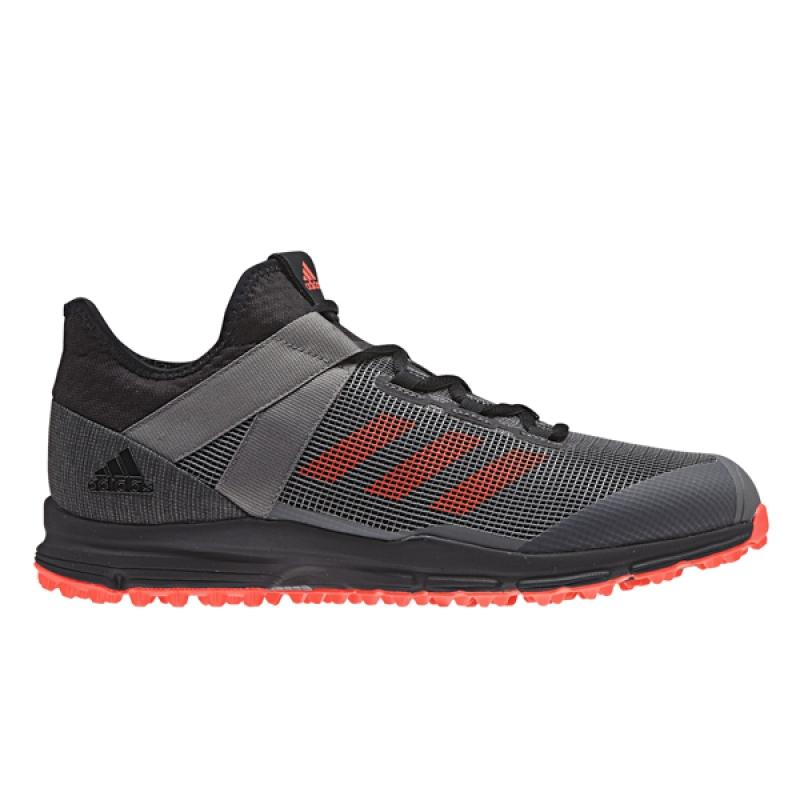 b3ea8806e6b Adidas Zone Dox 1.9S Core Black / Solar Red Hockeyschoen - online ...